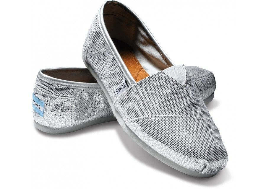 new arrival 7d14e ca65d Glitter Toms. My future wedding shoes.   shoes   Silver ...