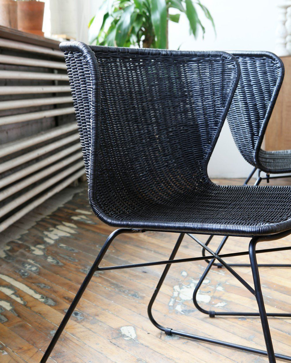 Ebba Dining Chair Black Set Of 2 Dining Chairs Woven Dining