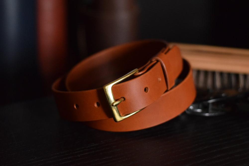 Mens Italian Vegetable Tanned Leather Belt