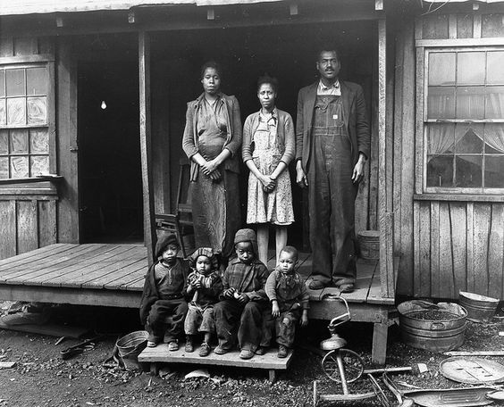 Coal miner, Desmond Hairston and family (Longacre, West Virginia) (1943) | by Penn State Special Collections Library