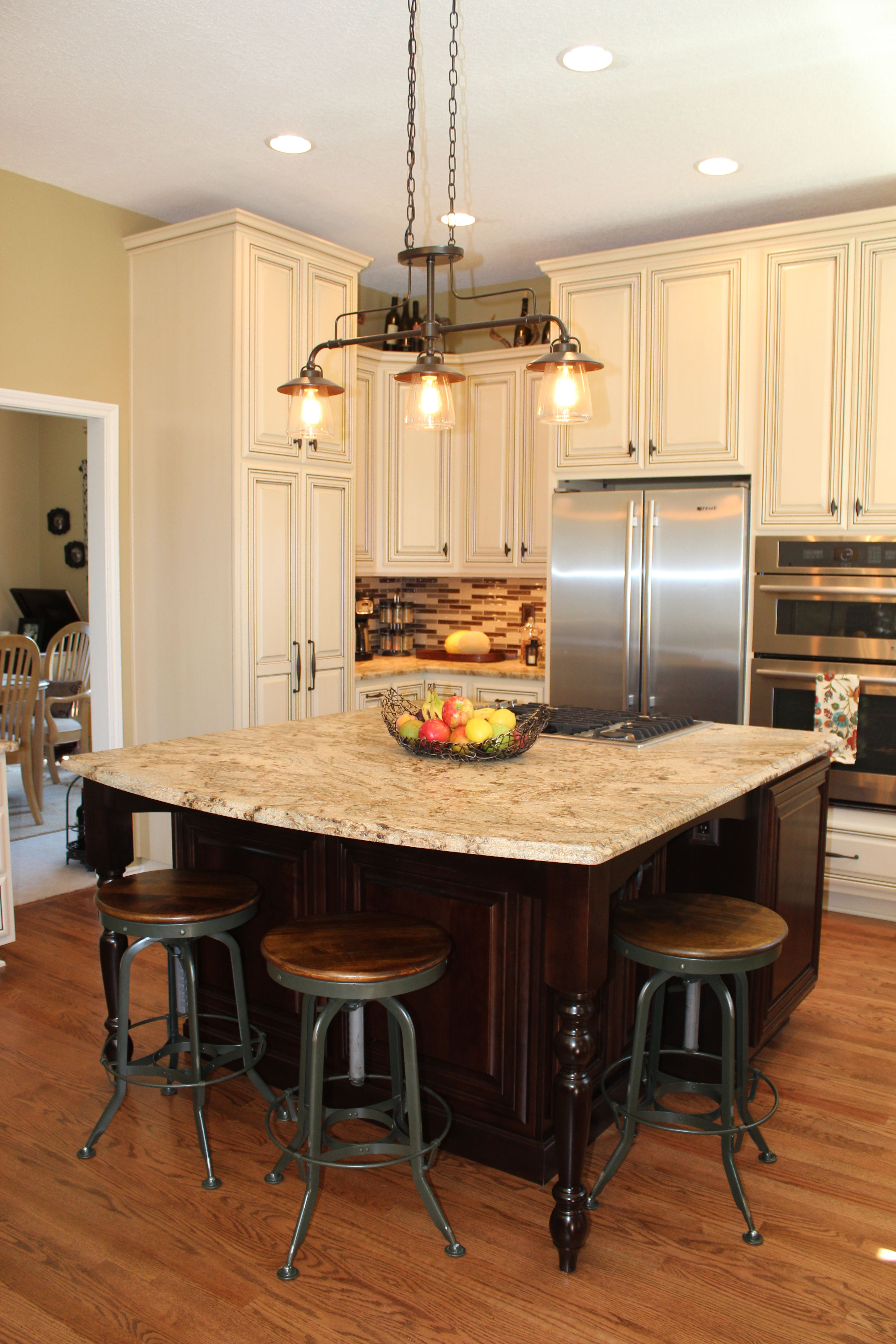 newly remodeled kitchen island and barstools hg design iteriors - Newly Remodeled Kitchens