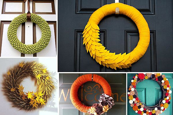 Funky Diy Wreaths For The Fall Season Yarns Front Doors