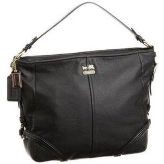 Coach Chelsea Leather Katarina Shoulder Hobo Bag Purse 18901 Black