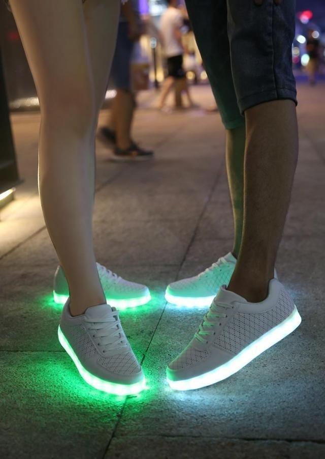 Unisex Xmas Fashion Costumes Party Shoes Usb Led Light Up