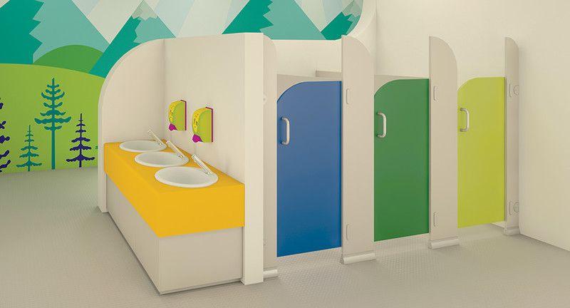 preschool bathroom design. Infant Toilet Cubicles - Children\u0027s Washrooms | Cubicle Centre Preschool Bathroom Design O