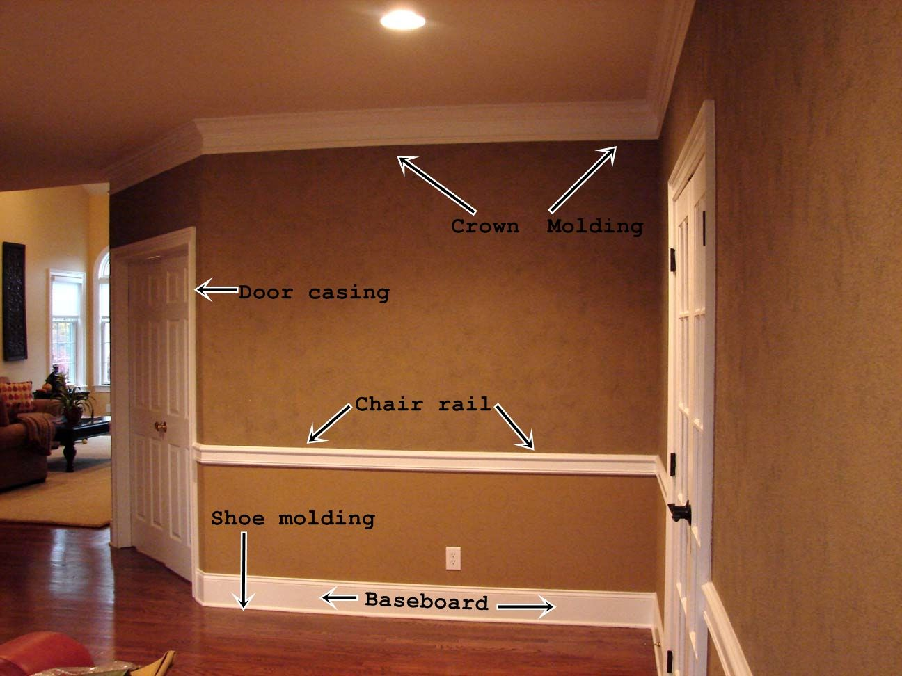 Crown molding and trim ideas types of moldings types of for Type of paint for trim