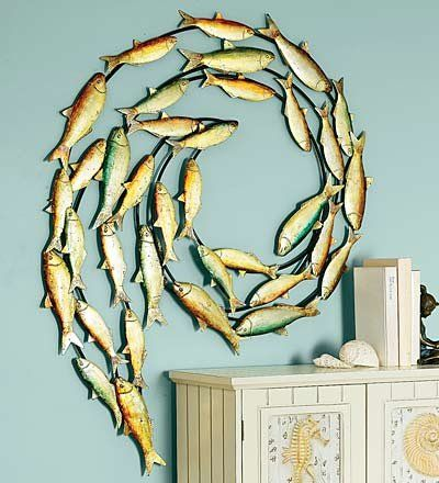 Decorating · Fish Metal Wall Art