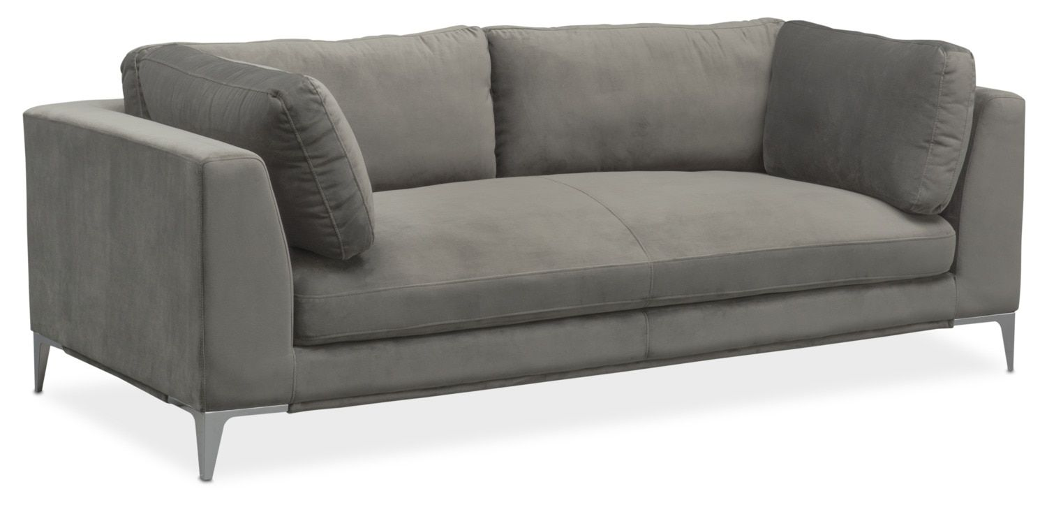 Vision In Velour Spacious And Oh So Soft The Aaron Sofa Draws