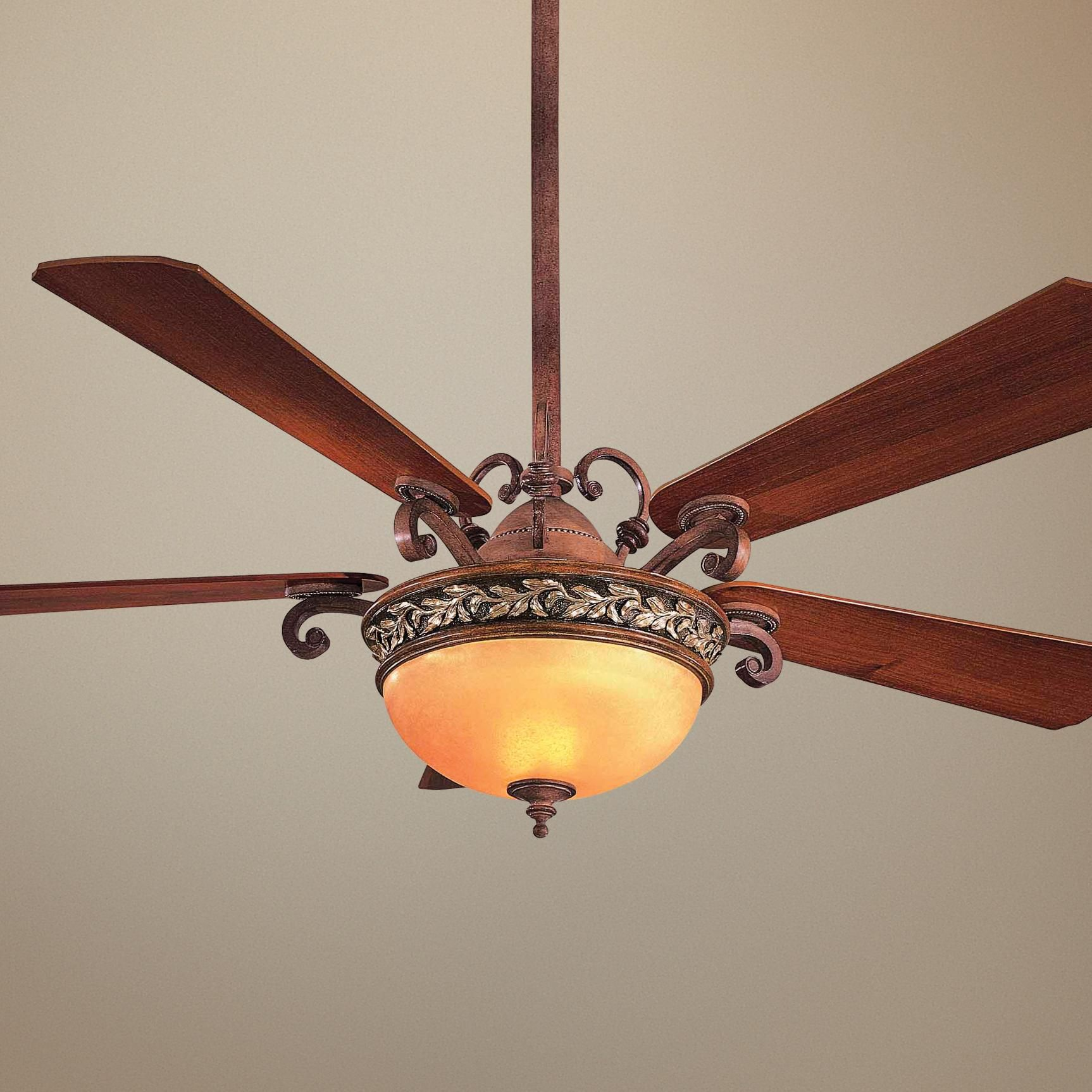 "56"" Minka Aire Salon Grand Florence Patina Ceiling Fan"