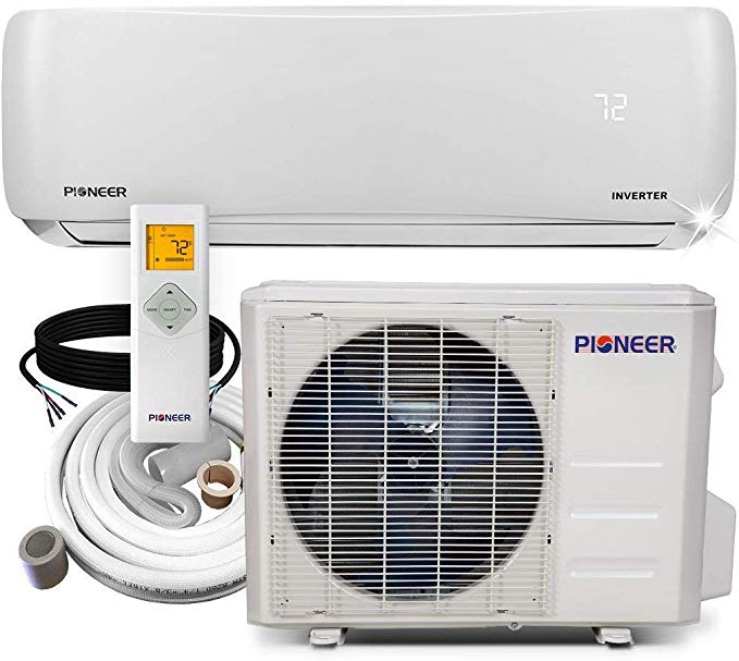 Amazon Com Pioneer Air Conditioner Wys012a 19 Wall Mount Ductless Inverter M In 2020 Wall Mounted Air Conditioner Small Window Air Conditioner Air Conditioner Heater