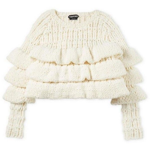 13e2c3222f4 CROPPED LAYERED WOOL SWEATER ❤ liked on Polyvore featuring tops ...