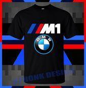 BMW M1 Logo Classic Car Short Sleeve T-shirts –