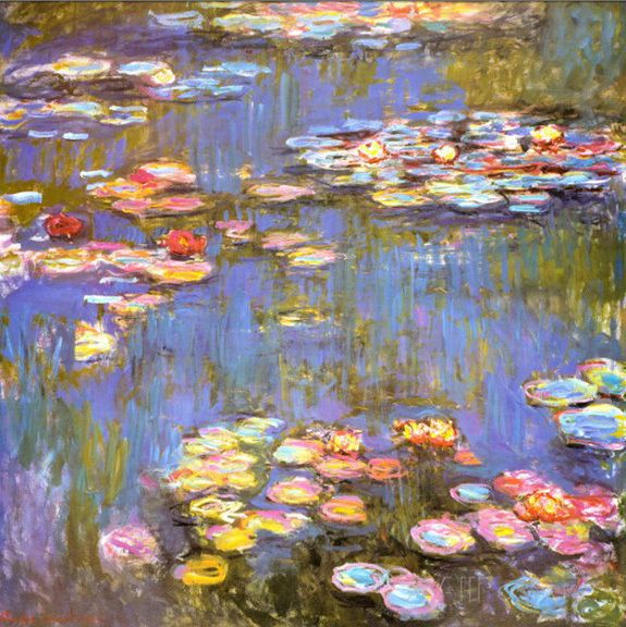 Claude Monet Painting, Water Lilies, oil on canvas ,famous ...
