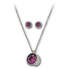 Swarovski Crystal Gloria Amethyst Pendant - Necklace Set