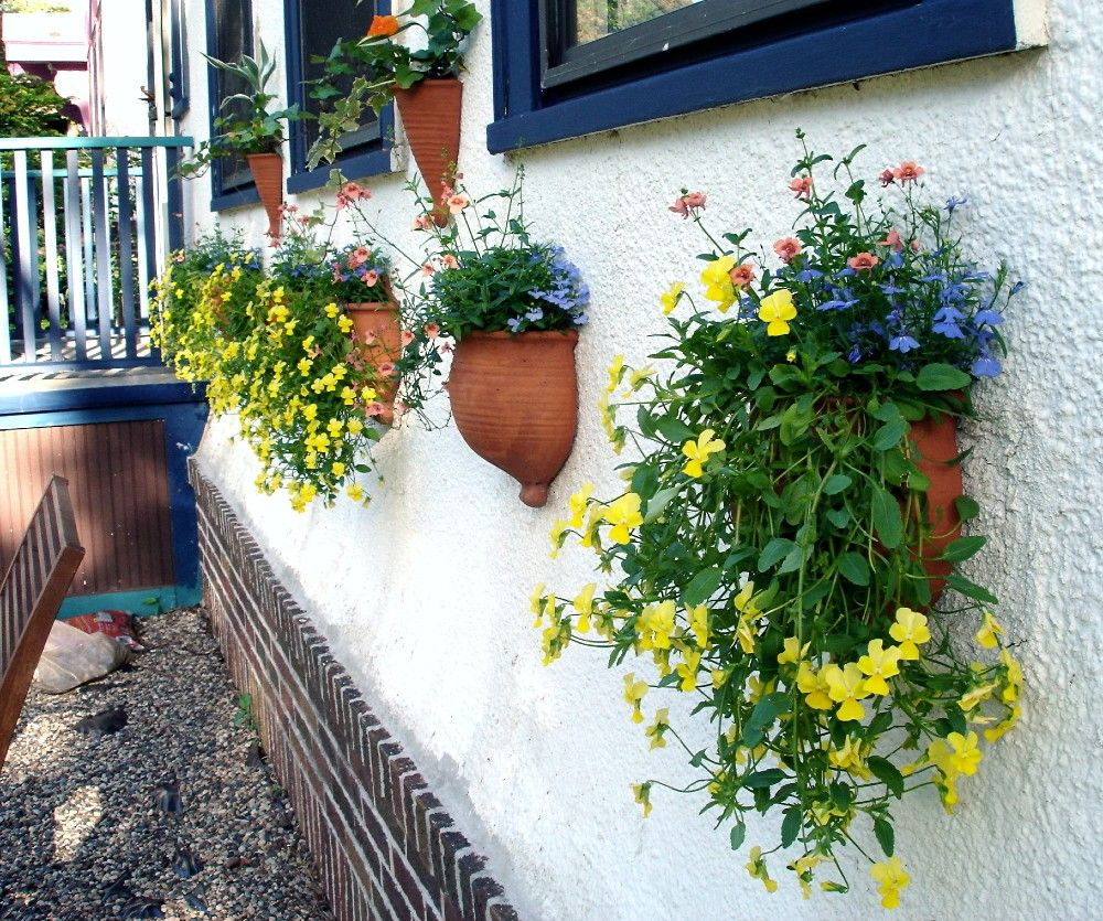 Plant pot gardening Spring Outdoors TerraCotta Garden decor Wall ...