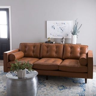 Shop For Metropolitan Leather Caramel Metro Sofa. Get Free Shipping At  Overstock.com   Your Online Furniture Outlet Store! Get 5% In Rewards With  Club O!   ...