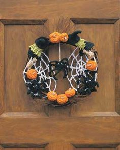 Photo of Halloween crochet wreath