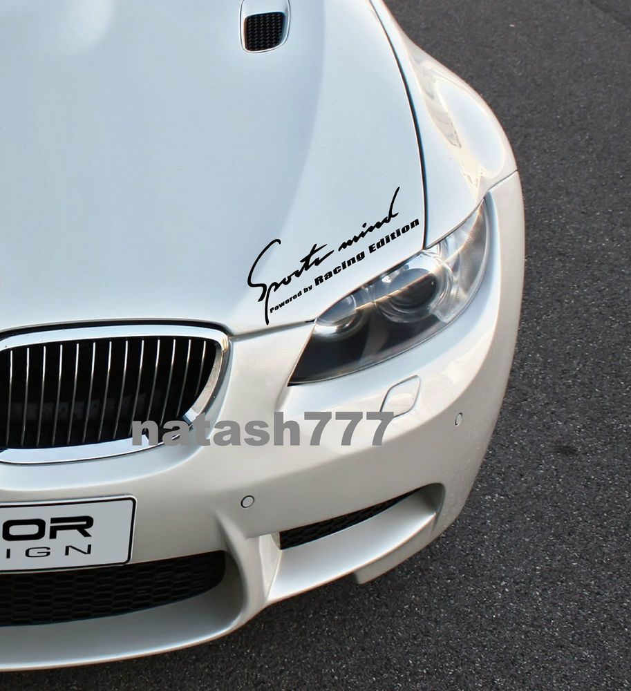 V8 SPORT Vinyl Decal door handle racing car emblem logo skirt sticker BLACK//RED