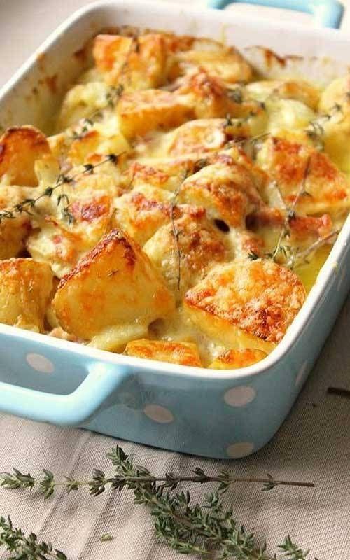 Rich Creamy Buttery Potato Gratin #kartoffelnofen