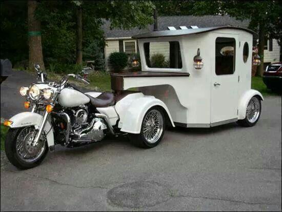 caravane pour moto insolite pinterest caravane moto et insolite. Black Bedroom Furniture Sets. Home Design Ideas