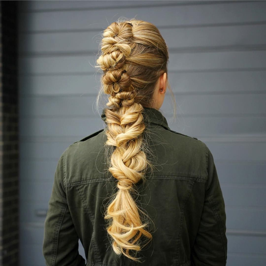 Knotted mohawk braid a great heatless hairstyle and perfect for