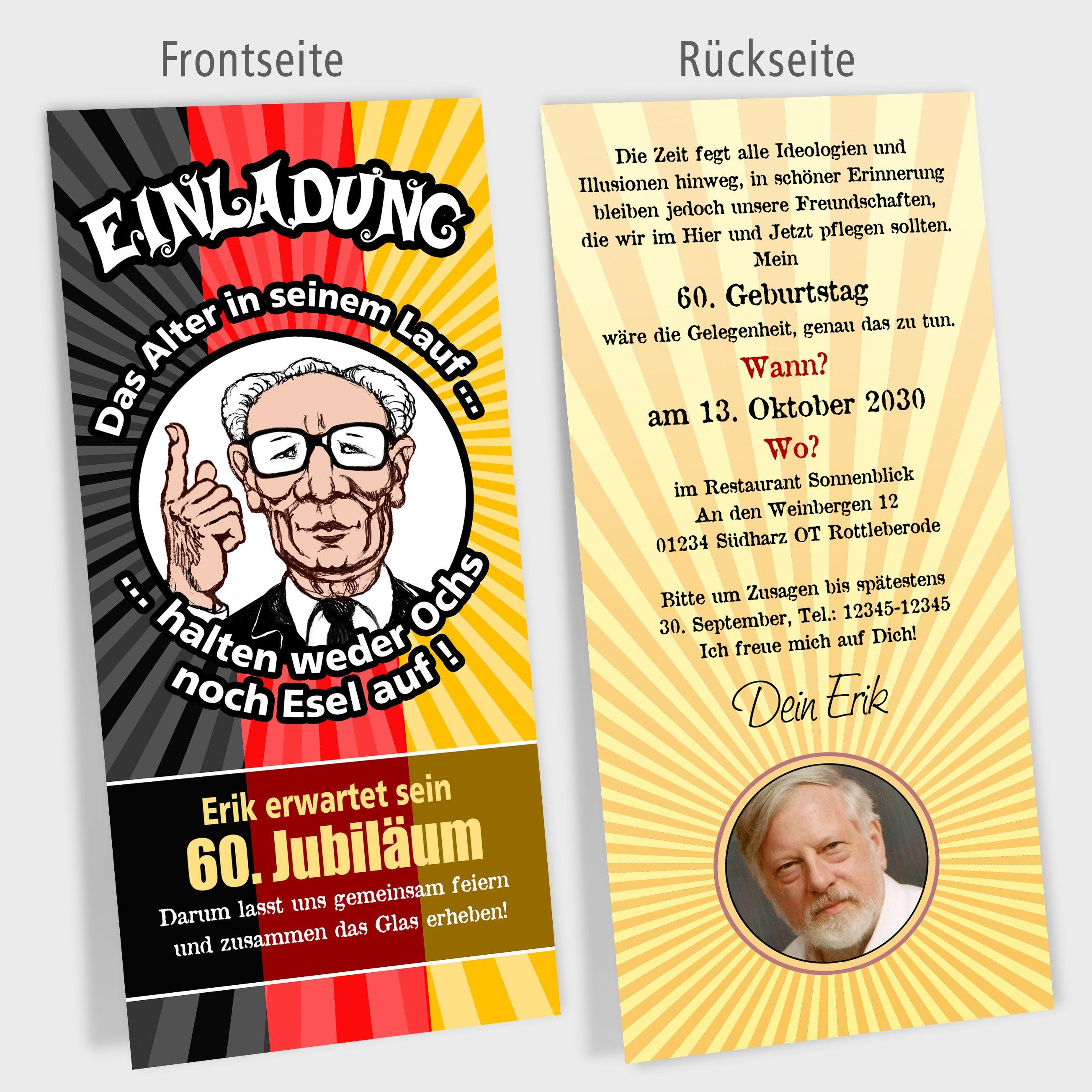 Details Zu Einladungskarte Geburtstag Politiker Cartoons Modell