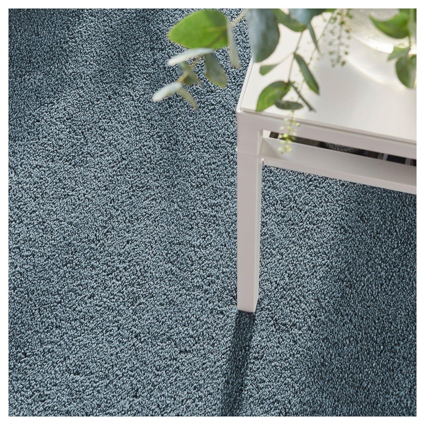 Stoense Teppich Kurzflor Mittelblau Teppich Ikea Teppichreinigung