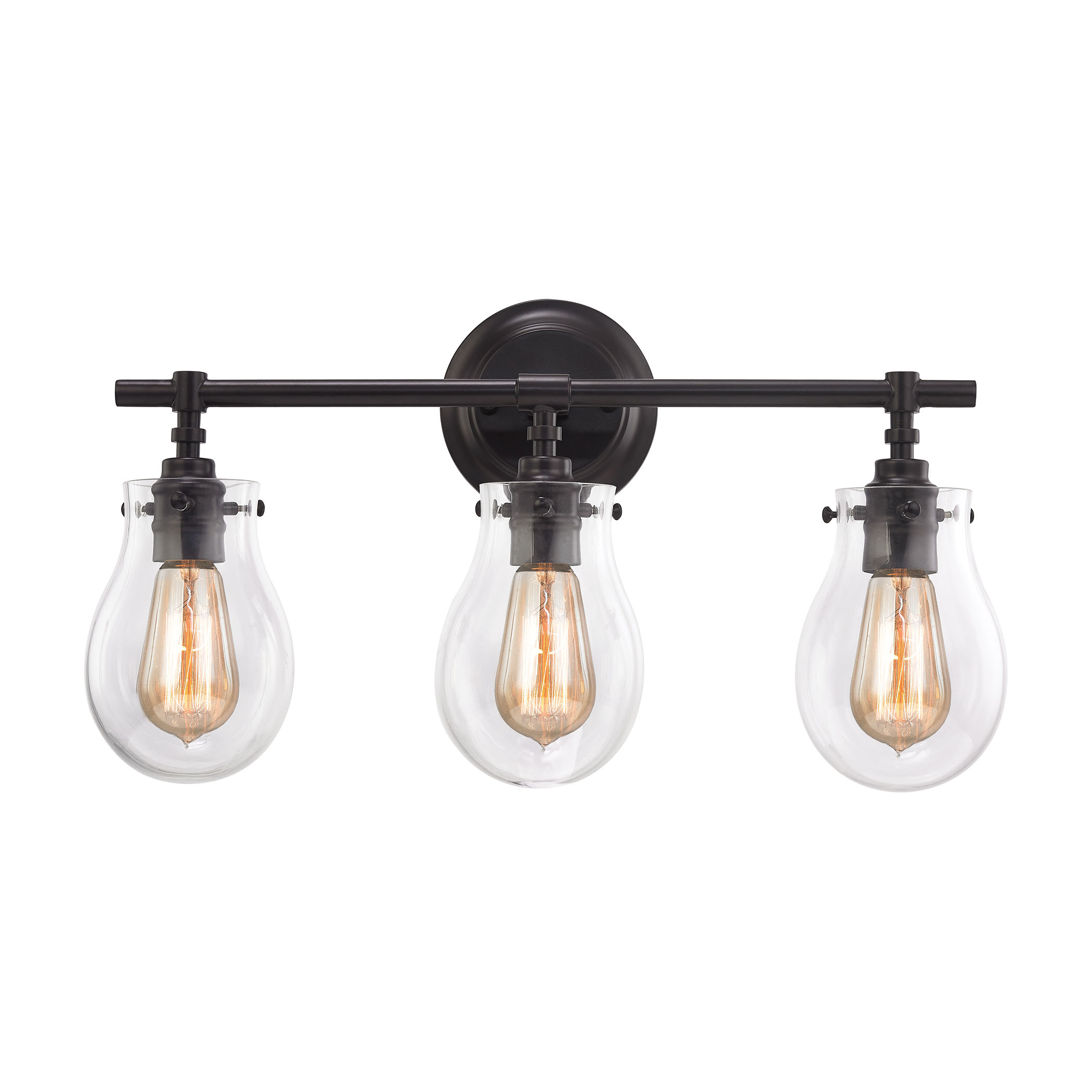 Jaelyn Bathroom Vanity Light Features Clear Or Opal Glass With