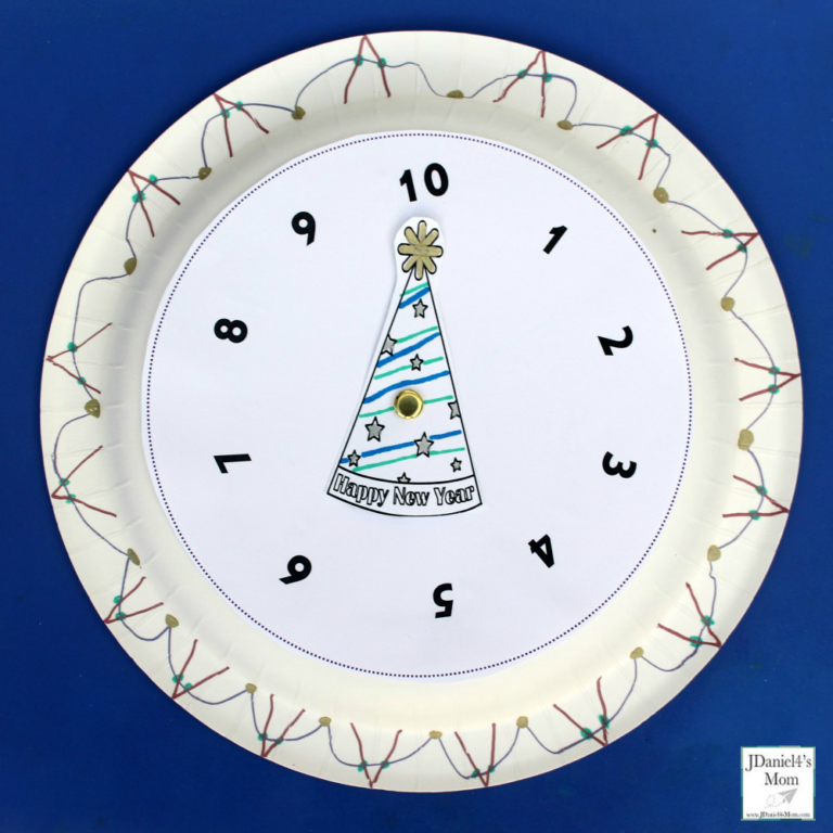 New Year's Eve Countdown Clock Craft New year's eve