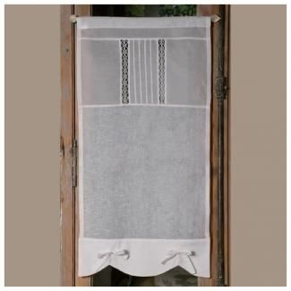 brise bise confectionn 233 sur mesure en blanc et dentelle window and spaces