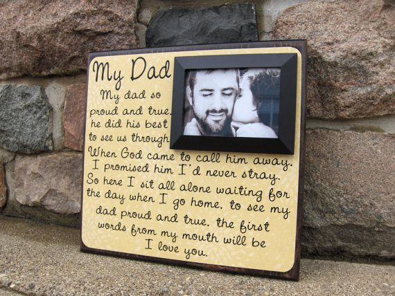 My Dad, Personalized Glass Frame,50th Birthday Gift Ideas for Men ...