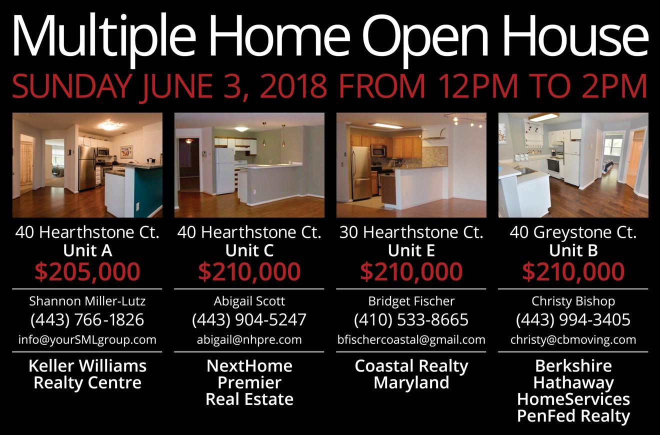 Multiple Home Open House June 3rd 2018 12pm 2pm Open House The Unit House