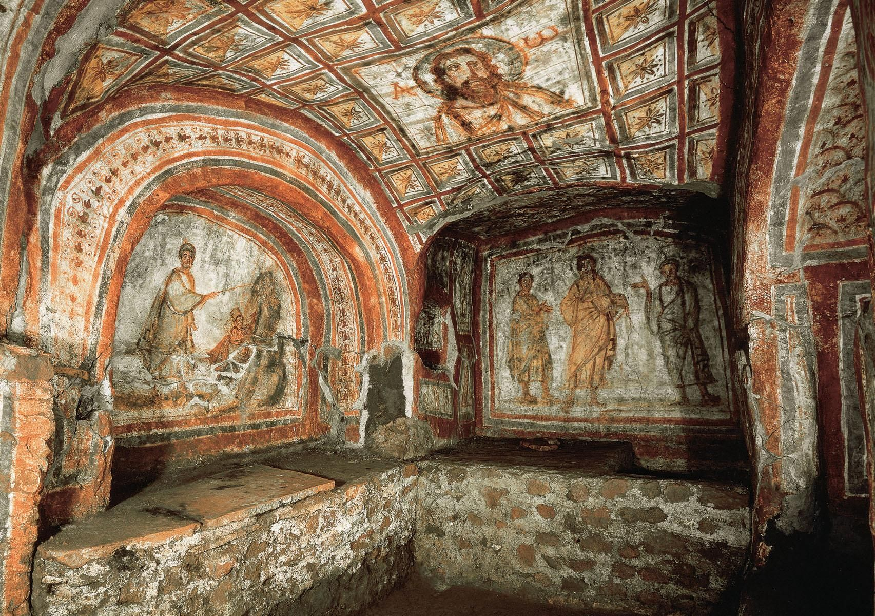 The crypt of St Cecilia In the adjoining crypt was the tomb of St Cecilia the popular patron saint of music a noble Roman family she was mart…