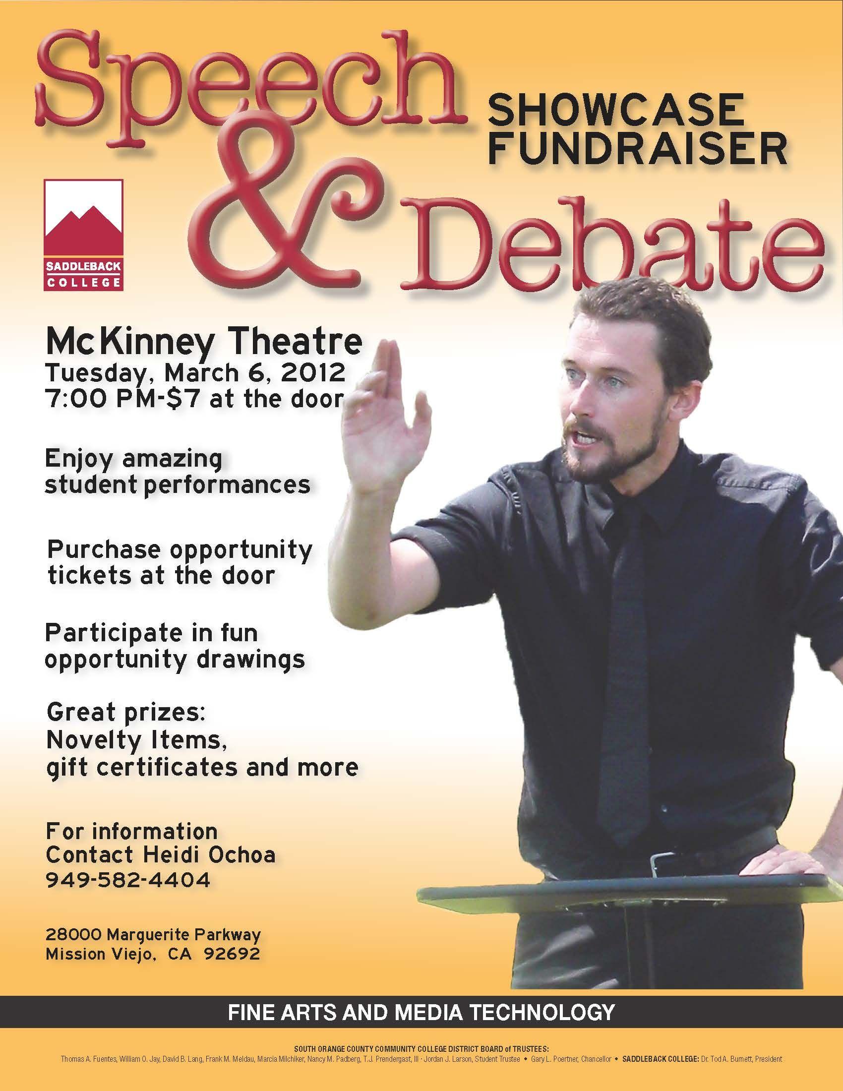 Speech and Debate Poster Speech and debate, Speech
