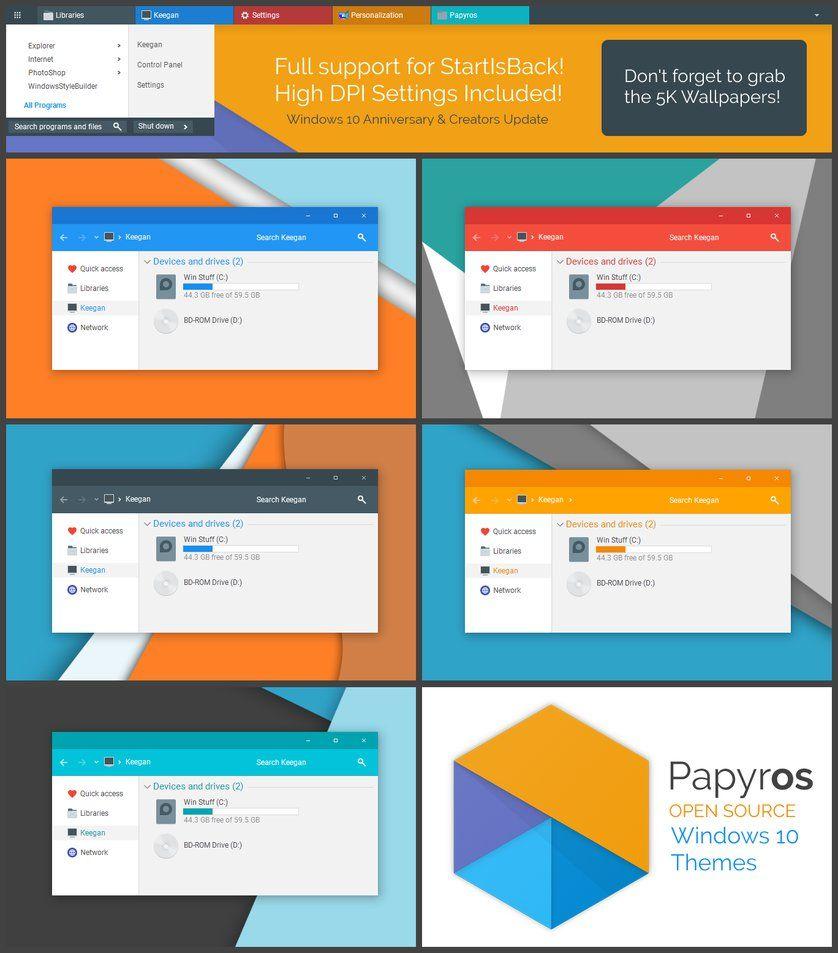 Papyros Windows Theme by niivu Windows themes, System