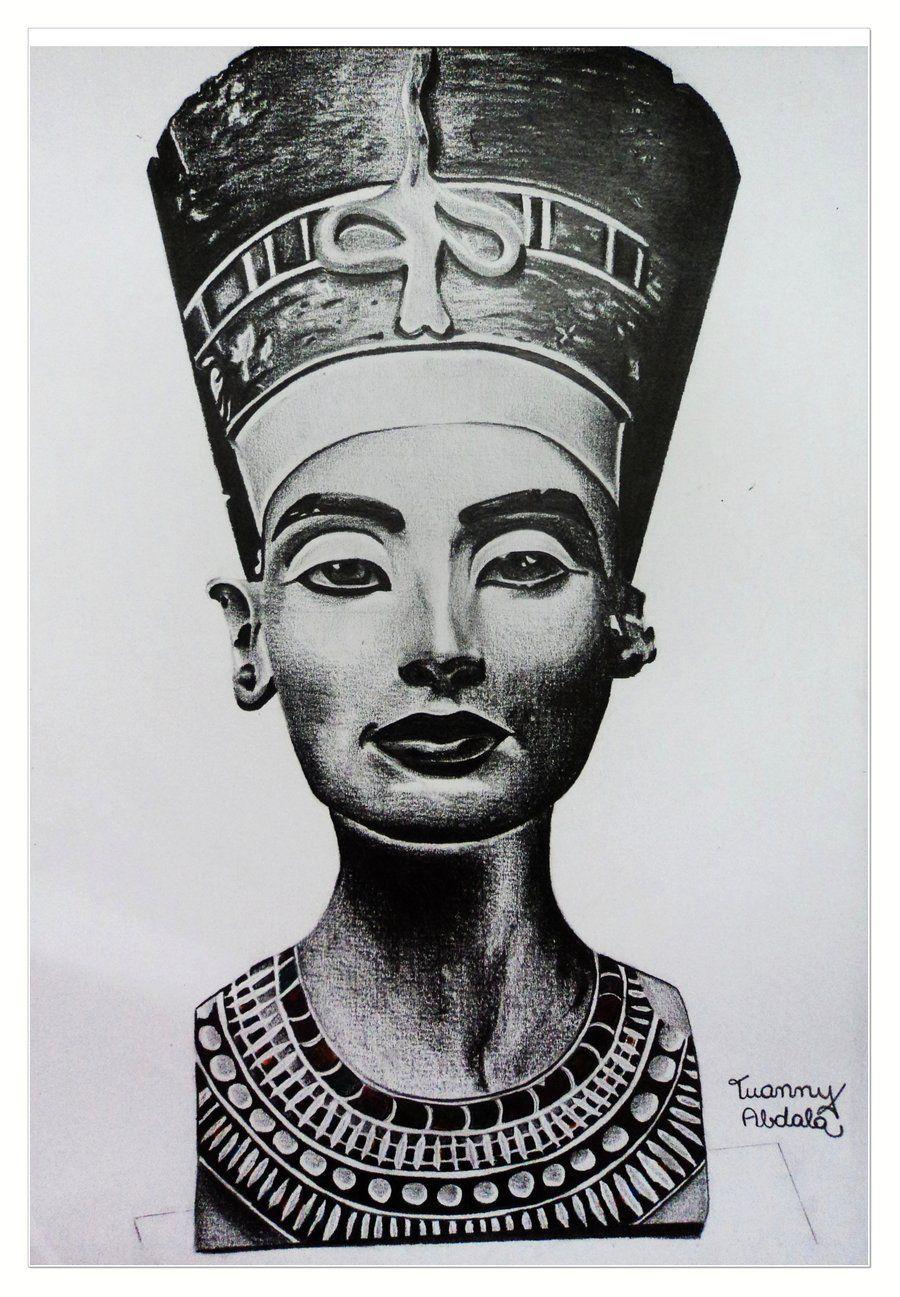 Nefertiti by murka92 on DeviantArt |Nefertiti Tattoo Drawing