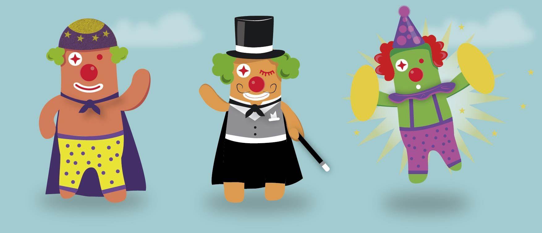 """Ilustración y diseño de personajes para spot animado. Cliente """"Induart"""