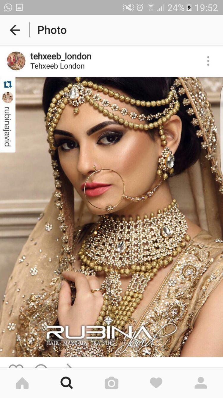 Pin von Iffath-Ara Mannan auf Wedding makeup/ jewelry\'s   Pinterest ...