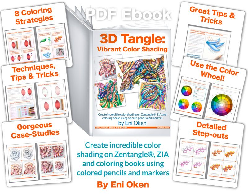 Create incredible color shading on Zentangle®, ZIA and coloring ...