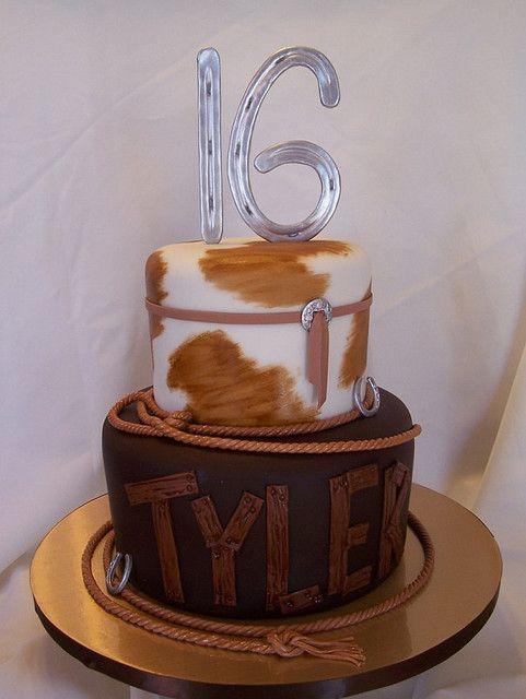 Super Tylers Western 16Th Birthday Cake Western Cakes Western Birthday Cards Printable Benkemecafe Filternl