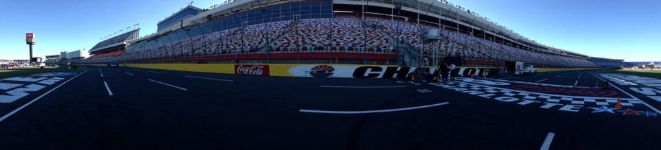 nascar Chris Clark A view from the track at @Charlotte Motor Speedway