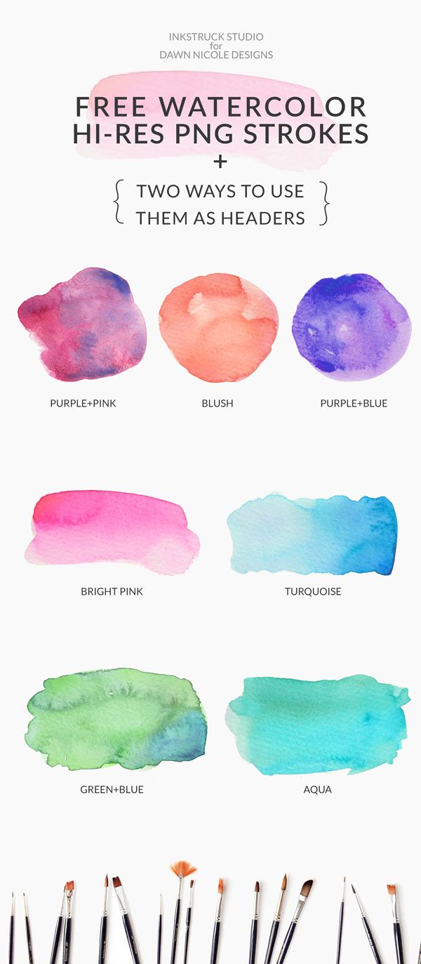 Free Watercolor Brushstrokes Photoshop Watercolor Ipad Art