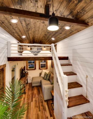 Rustic Loft Edition By Mint Tiny Homes In Bc Canada Tiny House Loft Tiny House Interior Tiny House Cabin