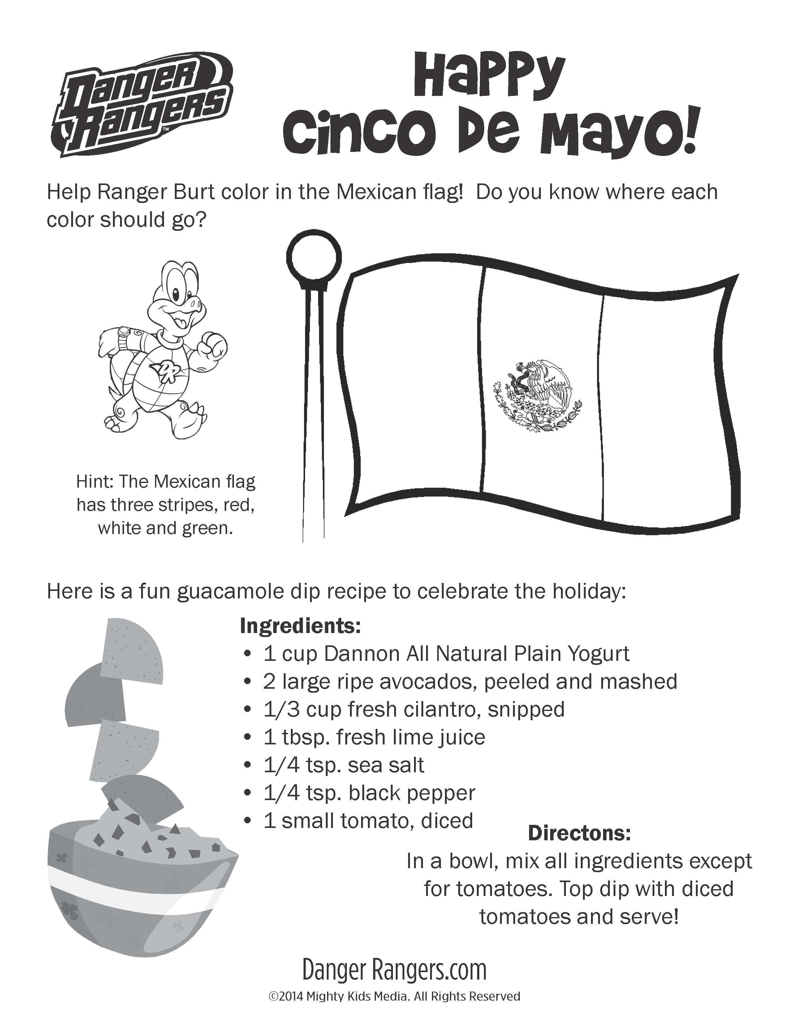 Pin By Mighty Kids Media On Coloring And Activity Sheets Cinco De Mayo Fun Guacamole De Mayo [ 3300 x 2550 Pixel ]