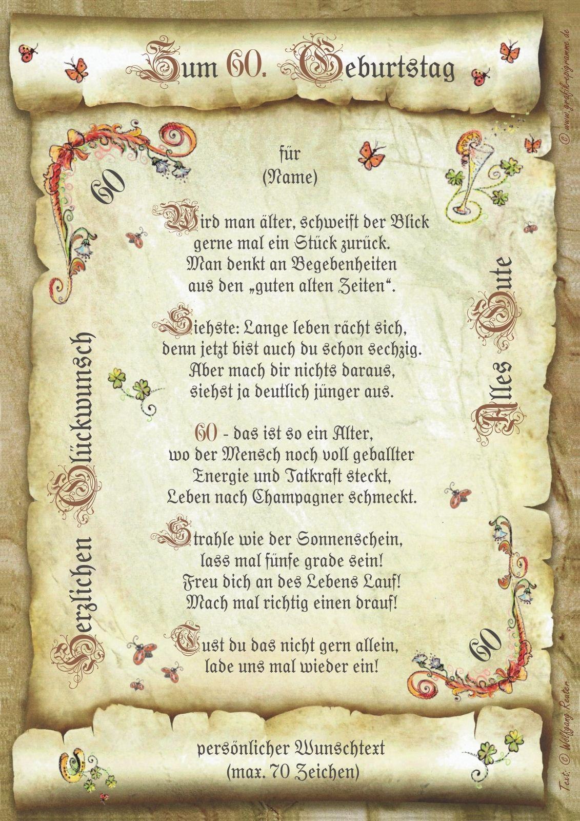 Geburtstag Geschenk Urkunde 18 20 30 40 50 60 65 66 70 75 80 90