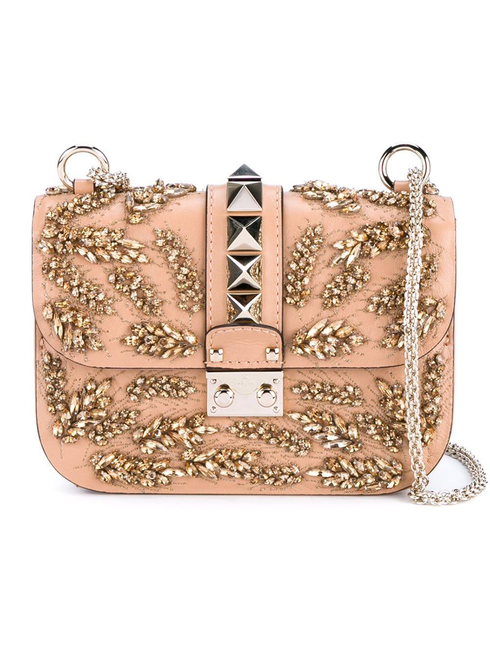 Valentino Garavani The Rockstud Small Leather Shoulder Bag - Blush Valentino xn1JzH5