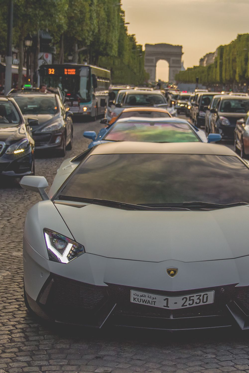 From Kuwait To Paris By Ben Mfl Lamborghini Aventador Coches