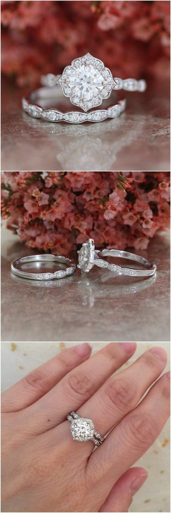 photos gallery forever wedding one within engagement bands moissanite floral ring etsy attachment cut vintage rings photo viewing oval of