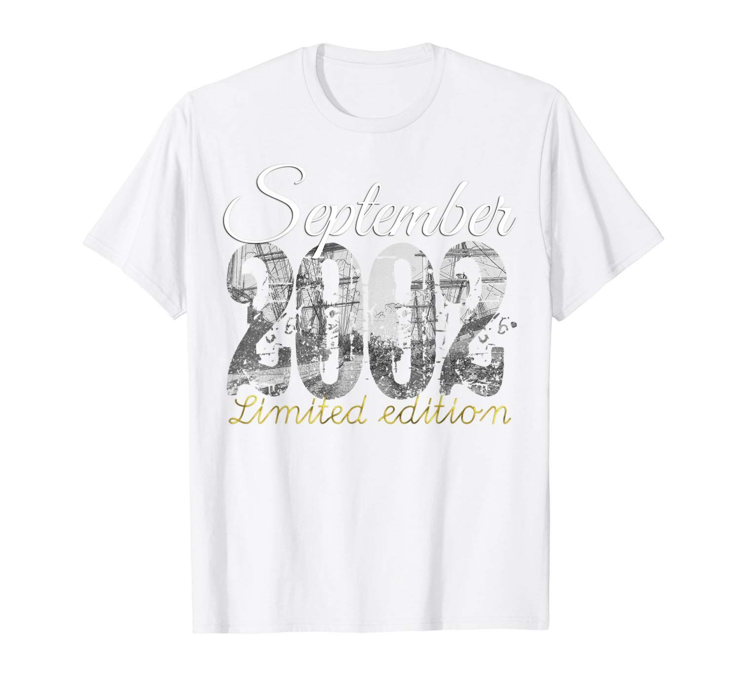 September 2002 Tee 17 Year Old Shirt 2002 17th Birthday Gift T-Shirt #17thbirthday