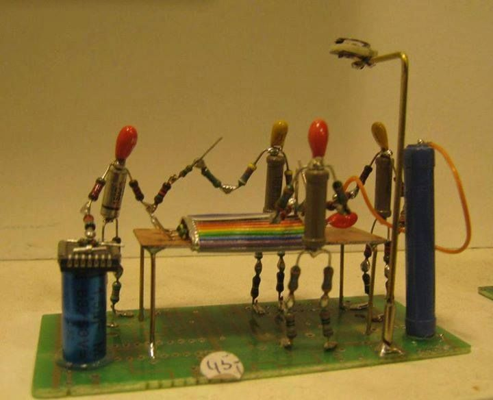 Electrical Operation Electronic art, Metal art projects
